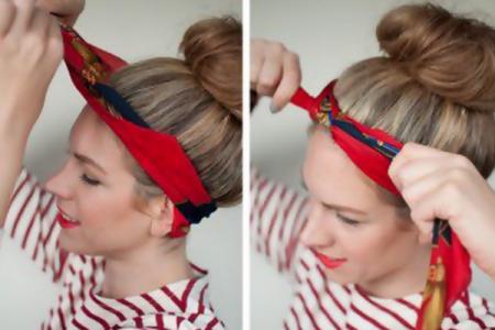 امنحي شعرك اطلالة جذابة بافكار ربطات الشعر بالبندانة